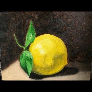 Original Oil Painting Lemon